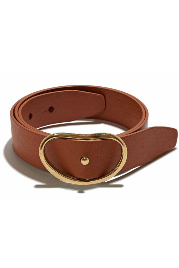 LIZZIE FORTUNATO Wide Georgia Belt - Tan