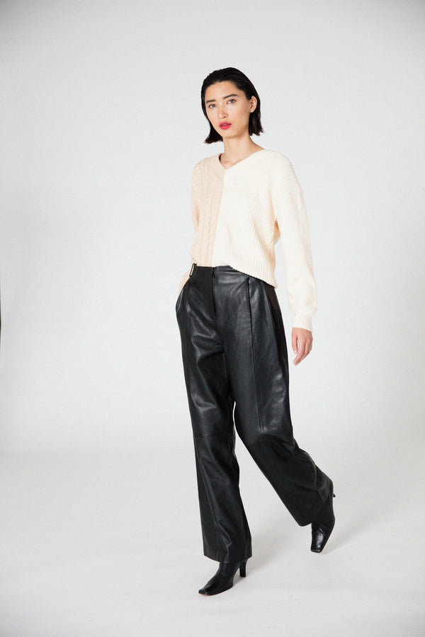 VEDA Bess Leather Trouser