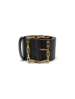 LIZZIE FORTUNATO Geo Chain Belt - Black
