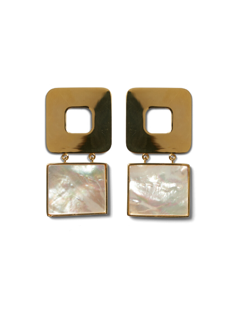 LIZZIE FORTUNATO Geo Pearl Earrings