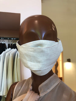 MCMULLEN Beige Linen Face Mask (The Tonal Collection)