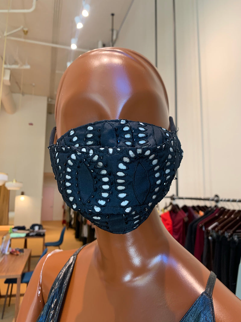 MCMULLEN Eyelet beaded Face Mask