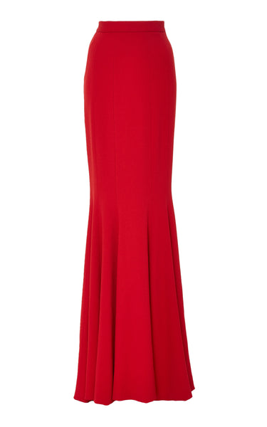 Brandon Maxwell SEAMED TULIP LONG SKIRT