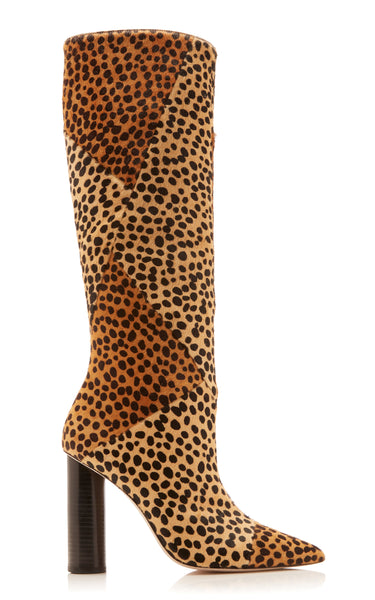 ULLA JOHNSON Jerri Boot Leopard Calf Hair