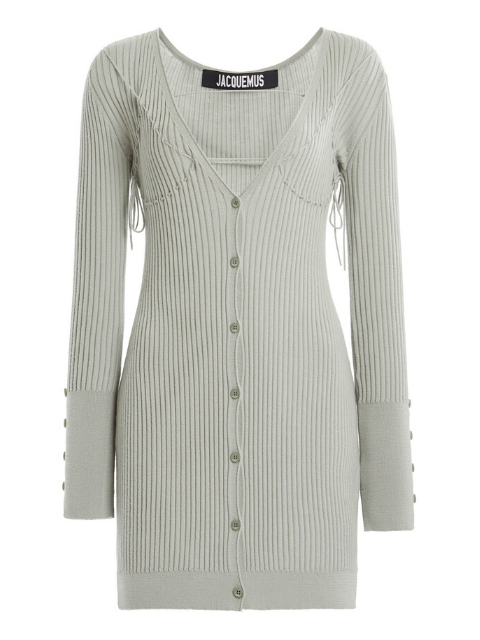 JACQUEMUS Lauris Ribbed Cardigan