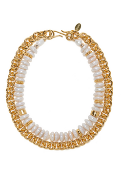 LIZZIE FORTUNATO Niki Pearl Necklace
