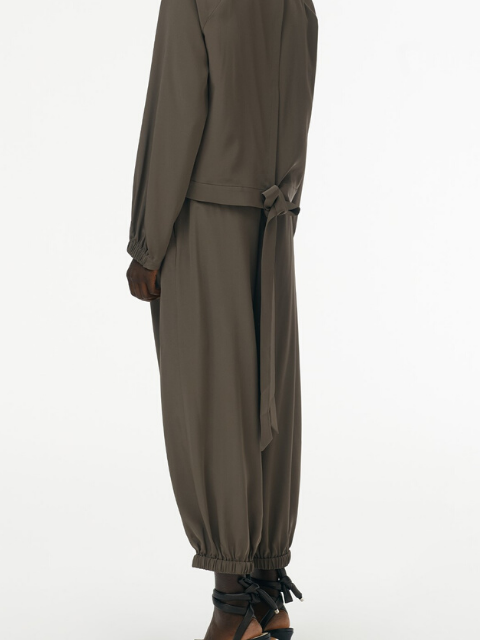 TIBI Eco-Silk Pleated Balloon Pant