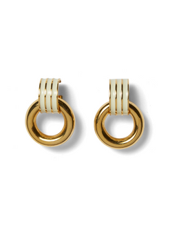 LIZZIE FORTUNATO Piazza Earrings - Cream