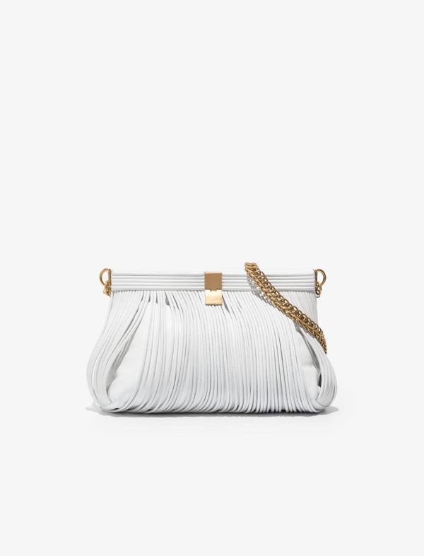 PROENZA SCHOULER Rolo Frame Clutch - Optic White