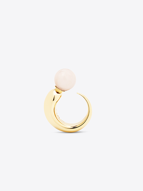 KHIRY Khartoum Ring Embellished - Rose Quartz (PRE-ORDER)