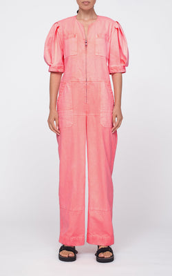 SEA Neon Acid Denim Jumpsuit