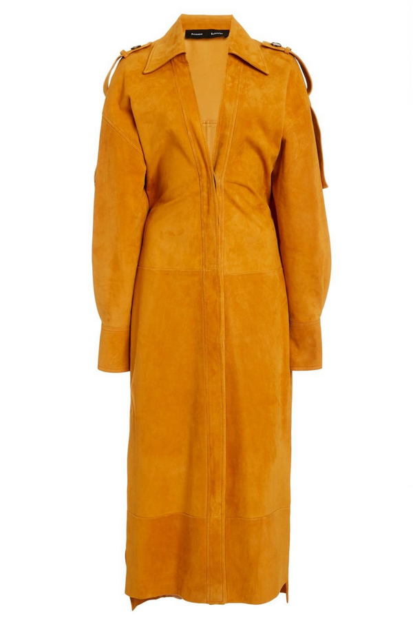 PROENZA SCHOULER Oversized Suede Shirt Dress