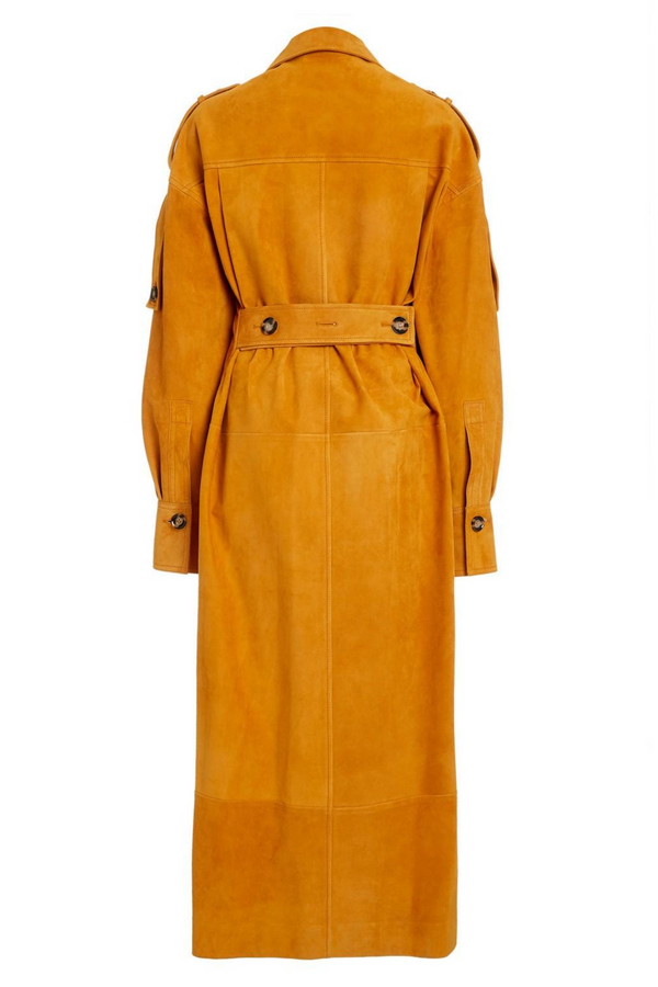 PROENZA SCHOULER Oversized Suede Shirt Dress (PRE-ORDER)