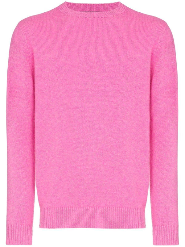 THE ELDER STATESMAN Simple Crew / Neon Pink