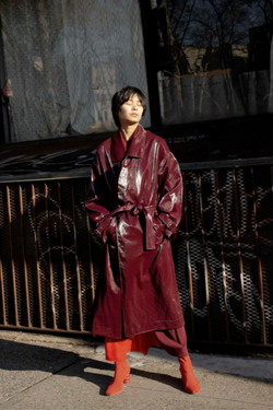 NOMIA Oversized Trench - Burgundy