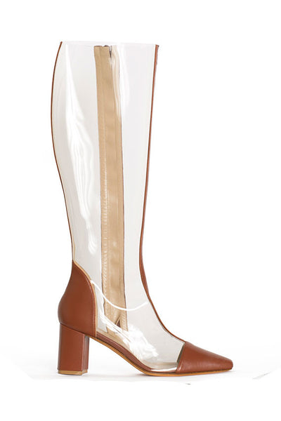 Maryam Nassir Zadeh TALL CLEAR JUPITER BOOT W/ 8CM