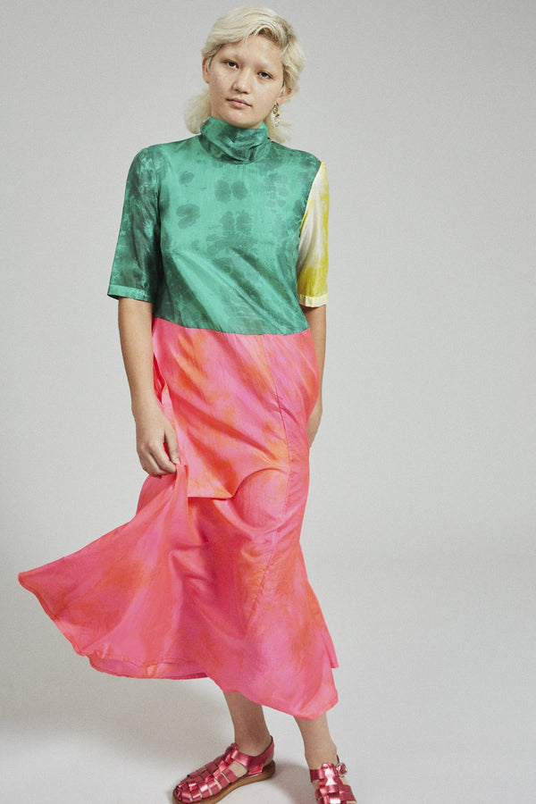 RACHEL COMEY Dasha Colorblock Midi Dress