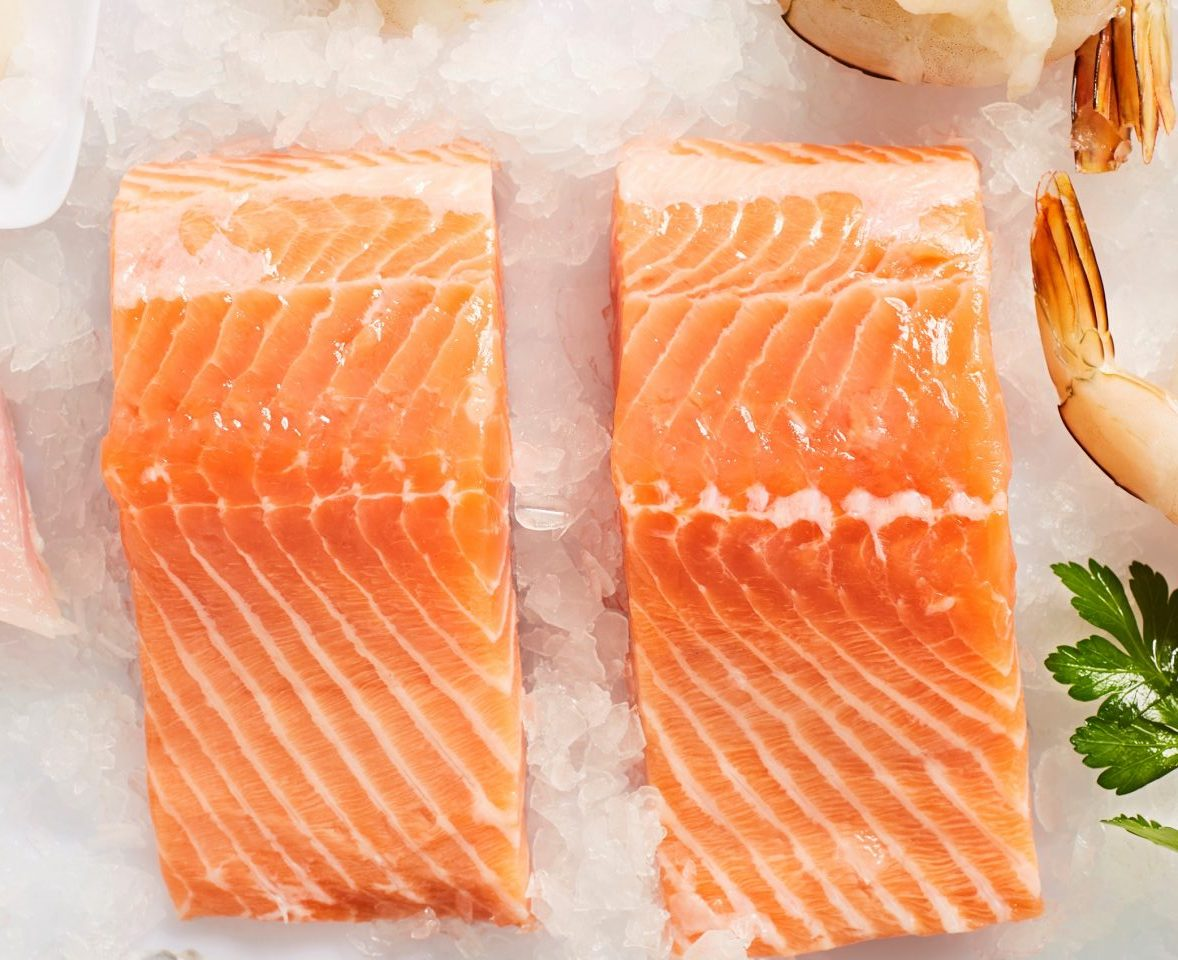 Salmon Portions Skin On Tasmanian Fillets