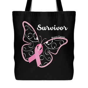 Breast Cancer Survivor Butterfly Bag