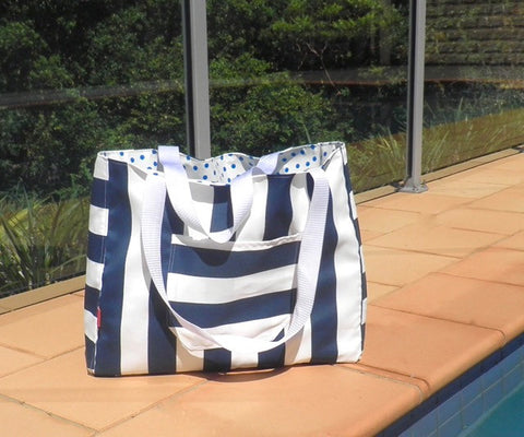Beach Bag Stripe - Beach Tote - Summer Bag