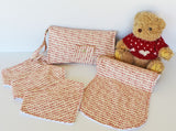 Christmas Gift Pack - Bandana Bib, Burp Cloth, Nappy Wallet, Play Mat