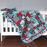 Baby Quilt - Fluffy Jungle - Cot Quilt