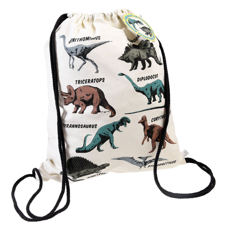 PREHISTORIC LAND DRAWSTRING BAG
