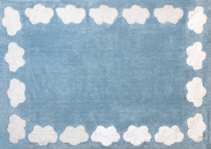 AZURE RUG WITH WHITE CLOUDS