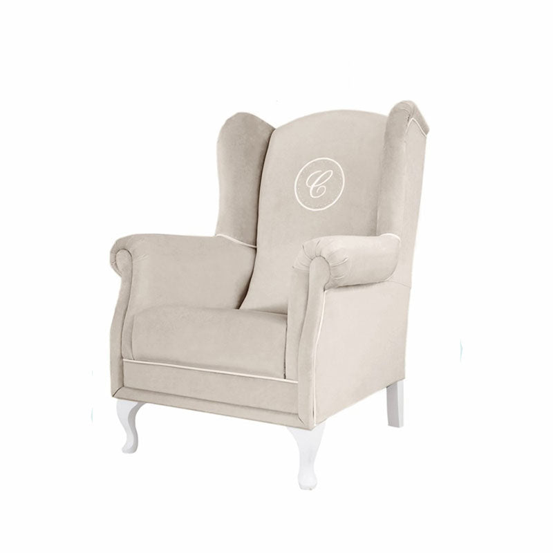 Beige Armchair with Emblem