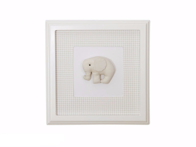 BEIGE PICTURE WITH ELEPHANT