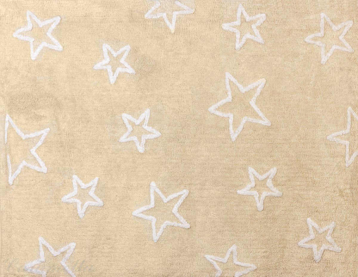 BEIGE RUG WITH WHITE STARS