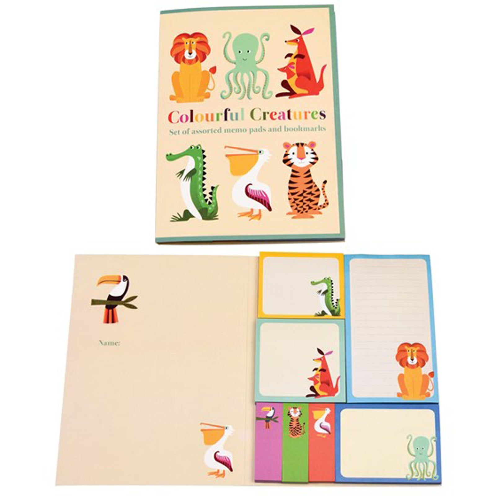 COLORFUL CREATURES MEMO PADS