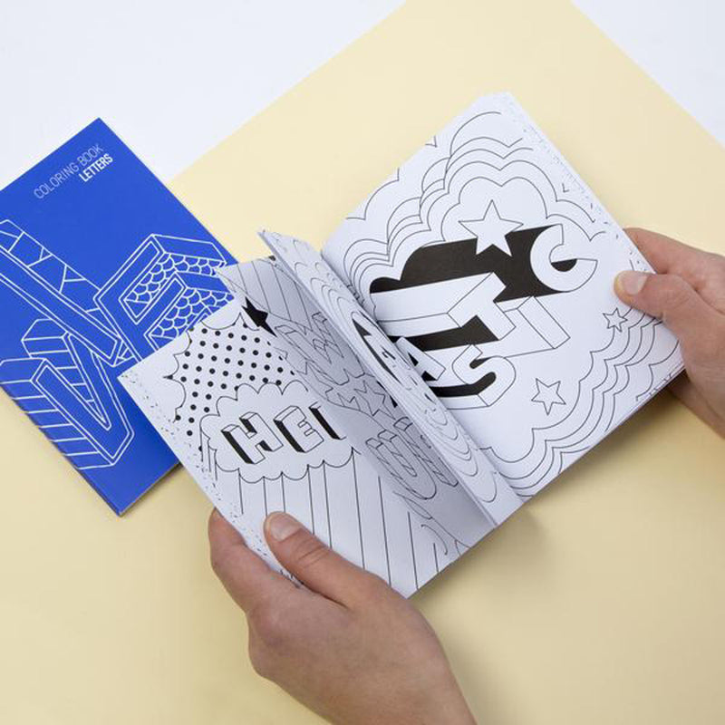 COLORING NOTEBOOKS - LETTERS
