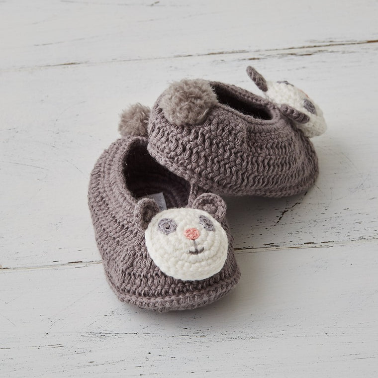 Crochet Paul Panda Booties