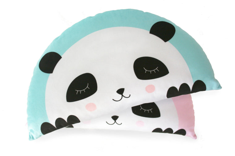 CUSHION PANDA MINT-BLUE