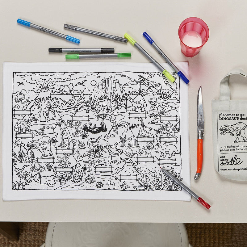DINOSAUR DOODLE PLACEMAT - TO GO