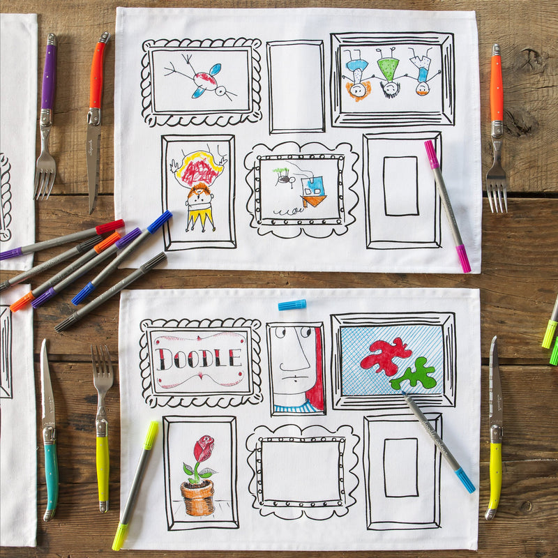 DOODLE FRAME PLACEMAT - SET OF 4