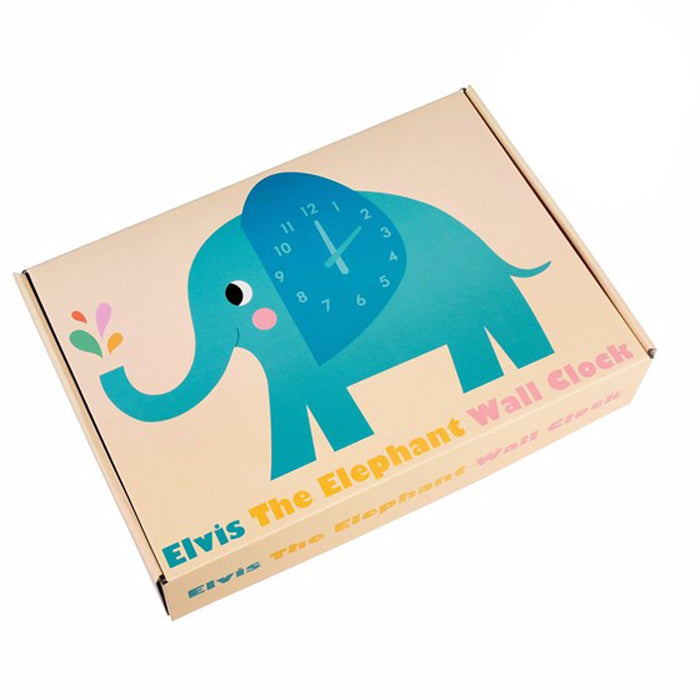 ELVIS THE ELEPHANT WOODEN WALL CLOCK