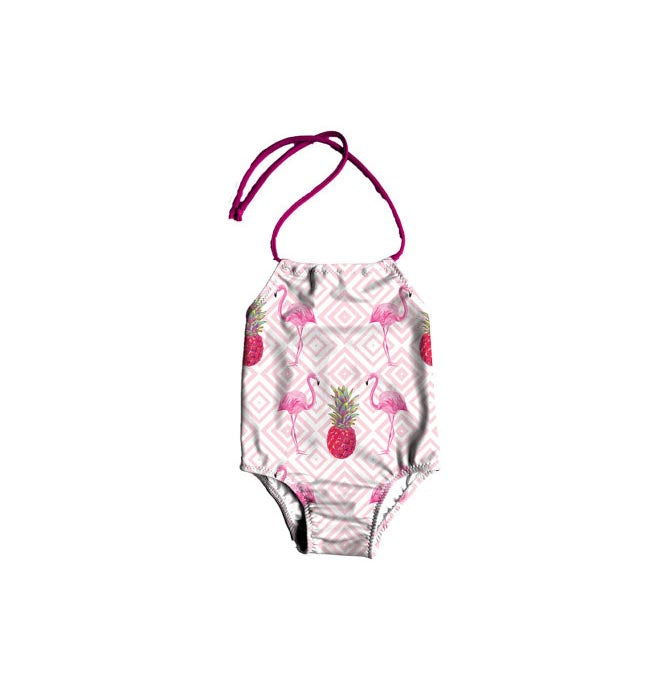 FLAMINGO GIRLS ONE-PIECE SWIMSUIT - 3T