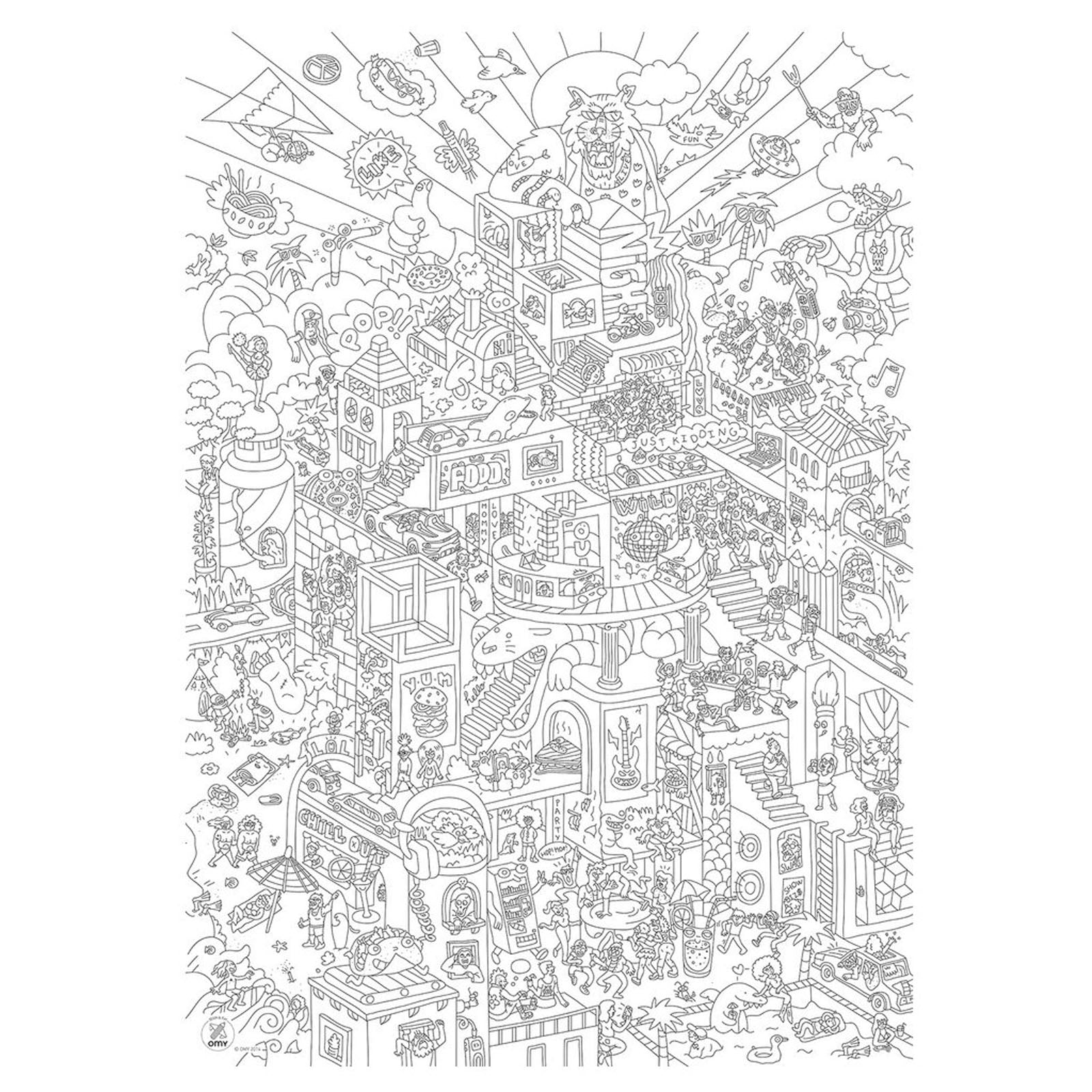 GIANT PARTY COLORING POSTER
