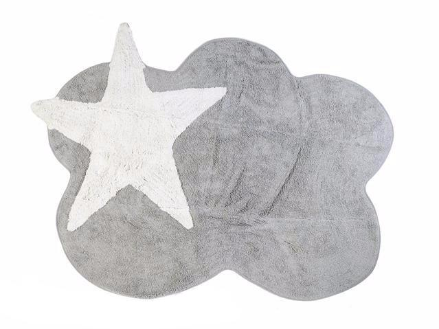 GREY CLOUD RUG WITH WHITE STAR