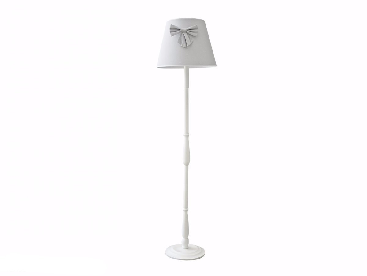 GREY CUBE FLOOR LAMP WITH BOW