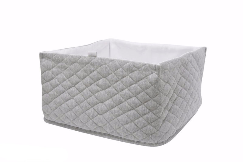GREY QUILTED BOX