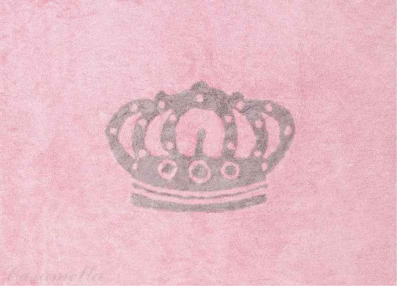 LIGHT PINK RUG WITH CROWN