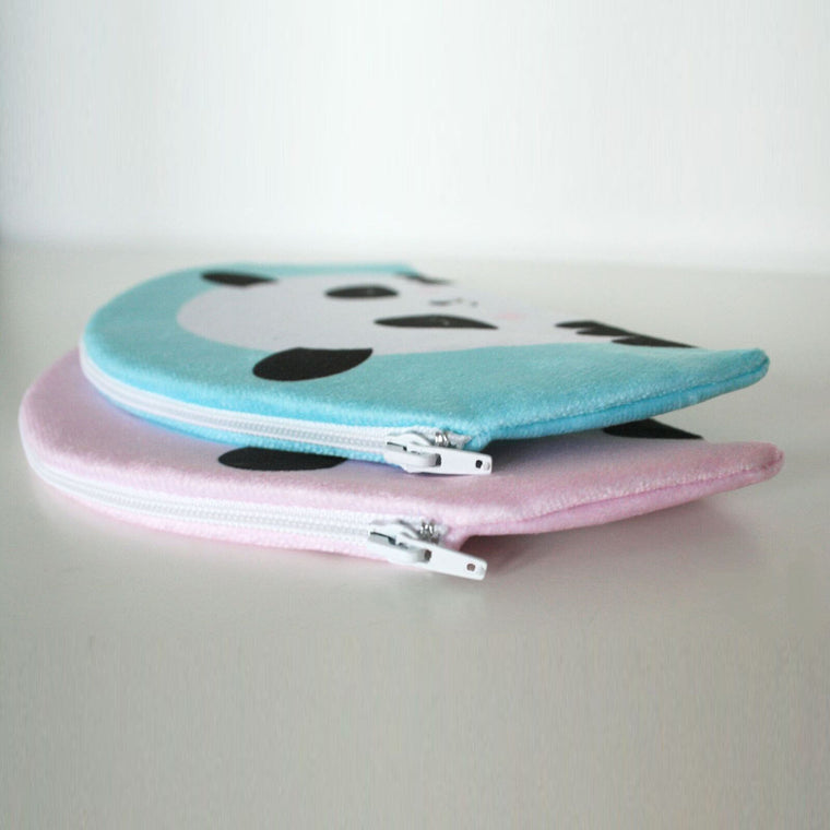 PENCIL CASE PANDA MINT - BLUE