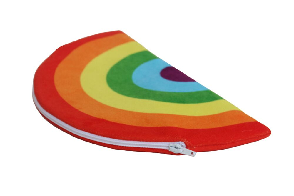 PENCIL CASE RAINBOW RED