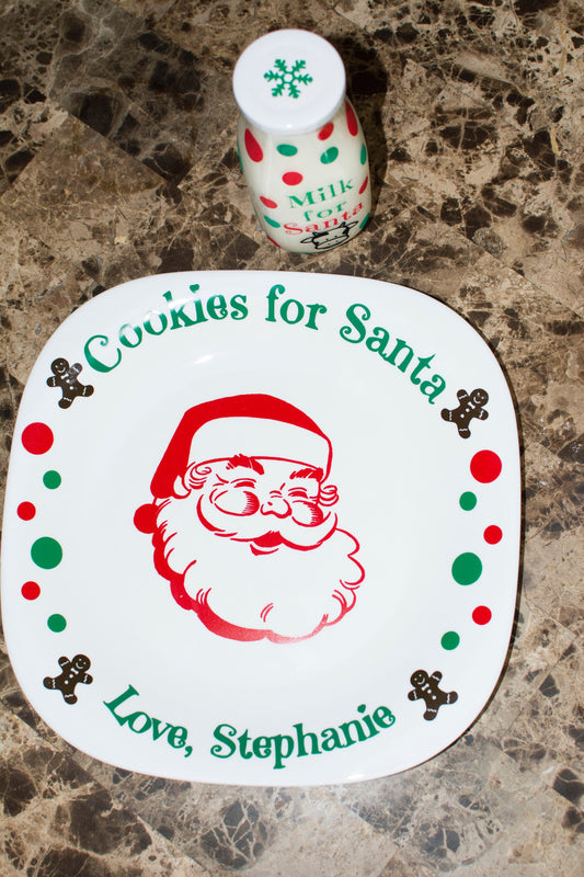 SANTA'S MILK AND COOKIES SET