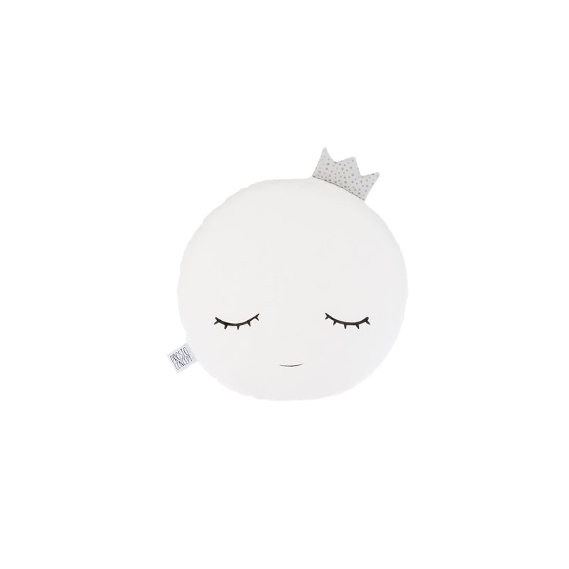 SMILING FULL MOON PILLOW WITH GREY CROWN