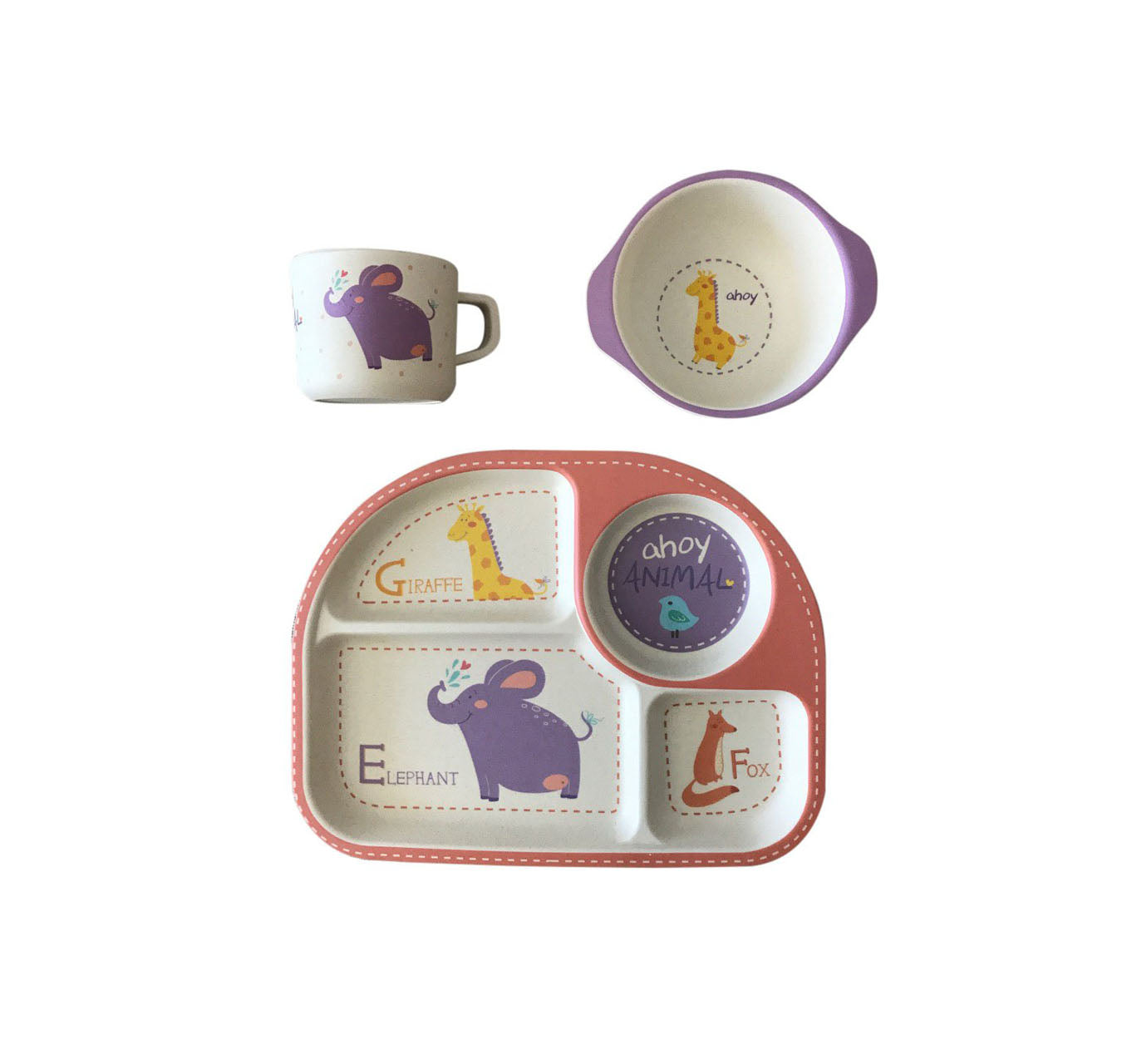 AHOY ANIMAL BAMBOO FIBER KIDS SET