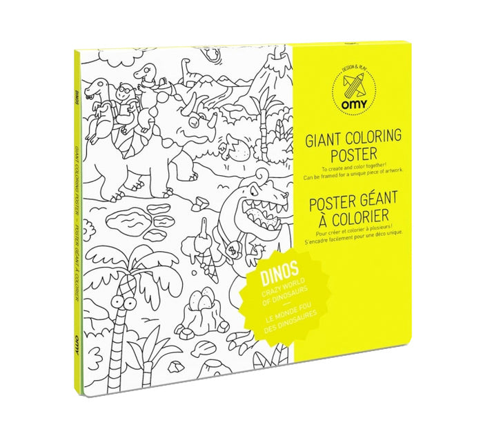 GIANT DINO COLORING POSTER